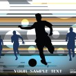 Football background — Stock vektor
