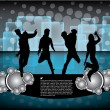 Dancing people on party background — Stock Vector #24492799