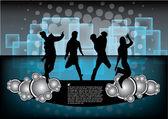 Ballare persone sullo sfondo del partito — Vettoriale Stock