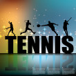 Tennis background — Stock Vector #27724285