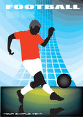Soccer player on abstract background — Stock Vector