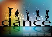 Dancing background — Stock Vector