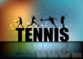 Tennis background — Stock Vector