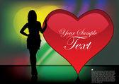 Herz der liebe — Stockvektor