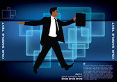 Businessmen on abstract background — Stock Vector