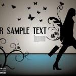 Shopping woman abstract vector — Stock Vector #29025241