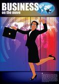 Businesswoman on modern background — Stockvektor