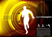 Sports champion vector — Stock Vector