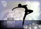 Dancer on magic background — Stock Vector