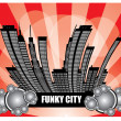 Funky city background   — Stock Vector