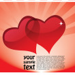 Two glossy hearts background — Stock Vector #29386035