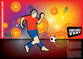 Soccer player vector — Stock Vector