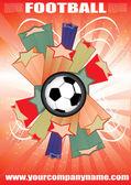 抽象的なサッカーの背景 — ストックベクタ