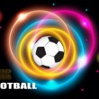 Soccer ball abstract rings background   — Stock Vector