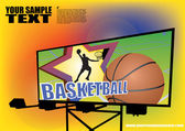 Basketball billboard background — Stock Vector