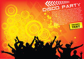 Disco party background — Stock Vector