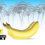 Banana background — Stock Vector #32132127