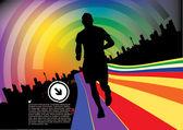 Running man background — Stock Vector