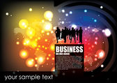Businesspeople modern background — Stock Vector