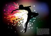 Dancing woman — Stock Vector