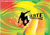 Skateboarding background — Stockvektor