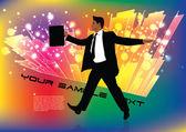Businessman background — Stock Vector