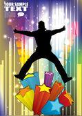 Dancer  background — Stockvektor