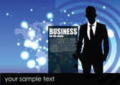 Businessman background — Stock Vector