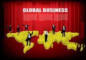 Wereldwijde business — Stockvector