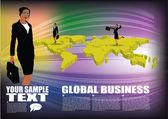 Businesswoman background — Stock Vector