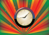 Clock Background — Stock Vector