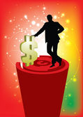 Ondernemers met dollarteken — Stockvector