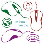 Computer mouse icons — Stock Vector