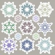 Set of snowflakes 2 — Stock Vector