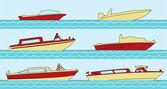 Båtar — Stockvektor