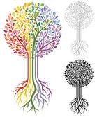 árbol de vector — Vector de stock