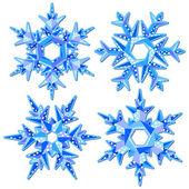 Copos de nieve de origami — Vector de stock