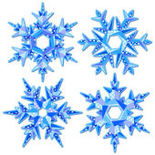 Flocos de neve origami — Vetorial Stock