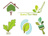 Icons for wood protection — Stock Vector
