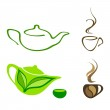 Tea and coffee icons — Stock Vector #25769357