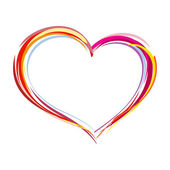 Painted heart — Stock Vector