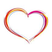Coração pintada — Vetorial Stock