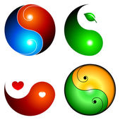 Yin yang icons — Stock Vector