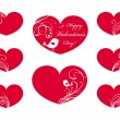 Ornate hearts — Vector de stock #36340493