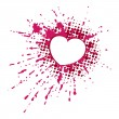 Vector de stock : Heart on blob
