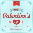 Card for Valentine's Day — Vecteur