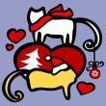 Xmas cats — Stock Vector #6770423
