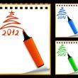Paper notebooks (xmas backgrounds 2012) — Stock Vector #7570887