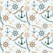 Sea seamless pattern. — Stockvectorbeeld