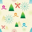 Abstract Cristmas tree pattern background — Imagen vectorial